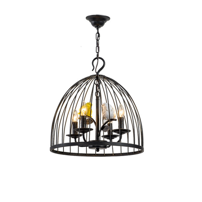 Black/Yellow Birdcage Chandelier Light PL644 - Cheerhuzz