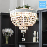 Elegant 4 Lights Crystal Chandelier PL648-40P