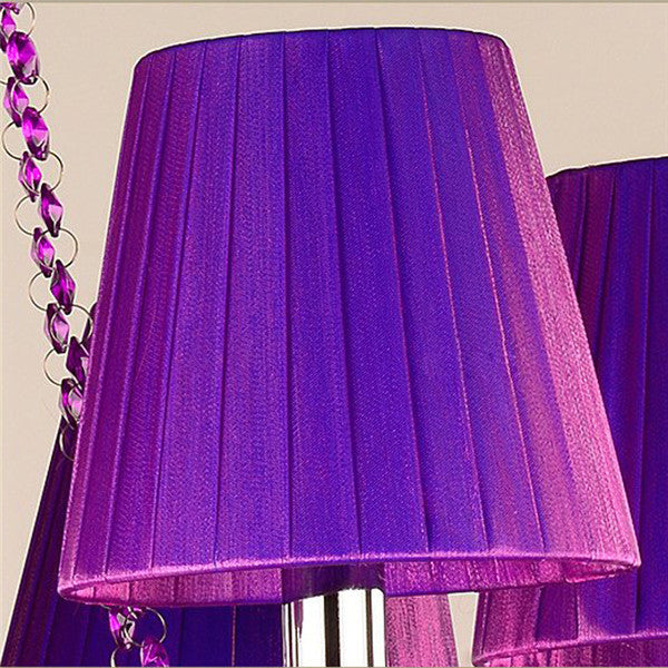 European Purple Candle Crystal Chandelier PL652