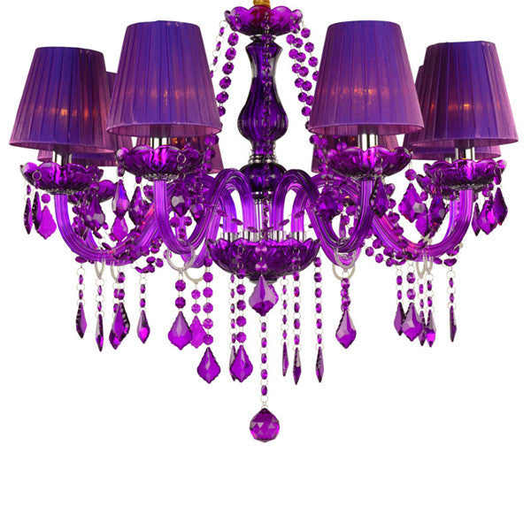 European Purple Candle Crystal Chandelier PL652 - Cheerhuzz