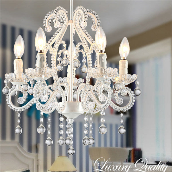 5 Lights Elegant Crystal Chandeliers PL654