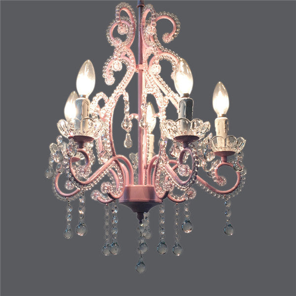 5 Lights Elegant Crystal Chandeliers PL654 - Cheerhuzz