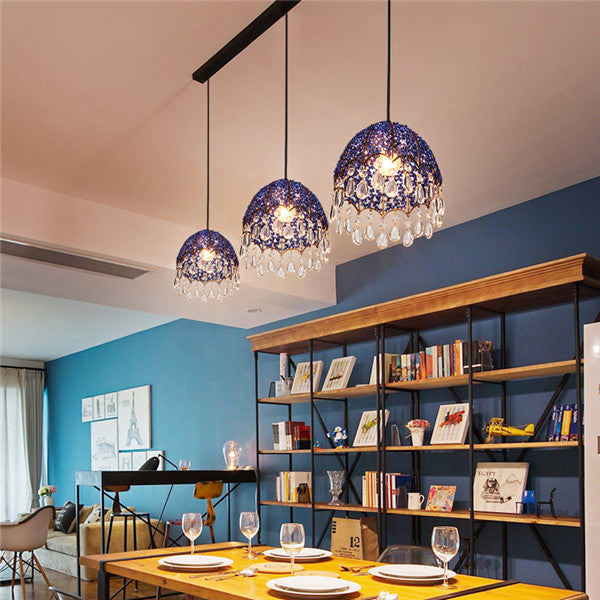 Modern Blue Crystal Pendant Lamp PL656 - Cheerhuzz