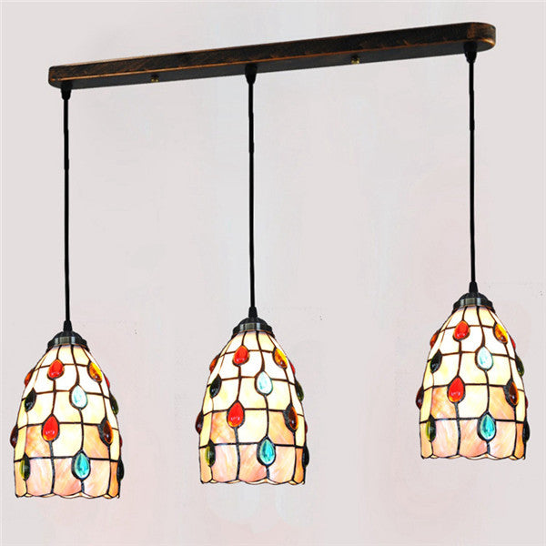 Stained Glass Color Bead Pendant Lamp PL657