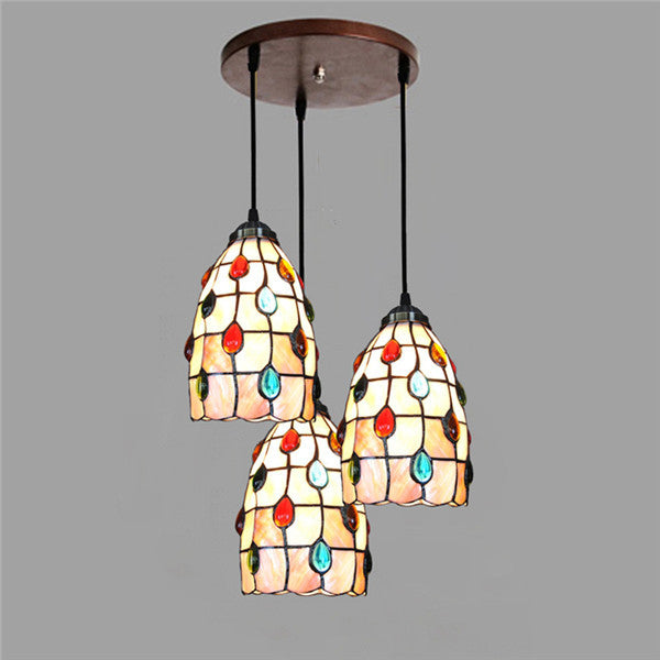 Stained Glass Color Bead Pendant Lamp PL657 - Cheerhuzz