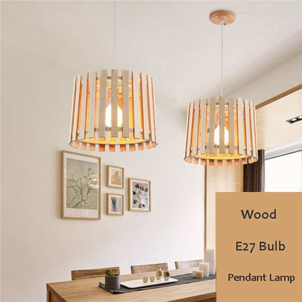 Modern Round Wooden Pendant Lights PL660