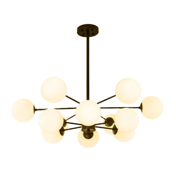Industrial Glass Ball Chandelier Light PL661 - Cheerhuzz