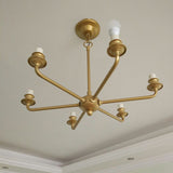 6 Lights Modern Metal Chandeliers PL662-6GO - Cheerhuzz