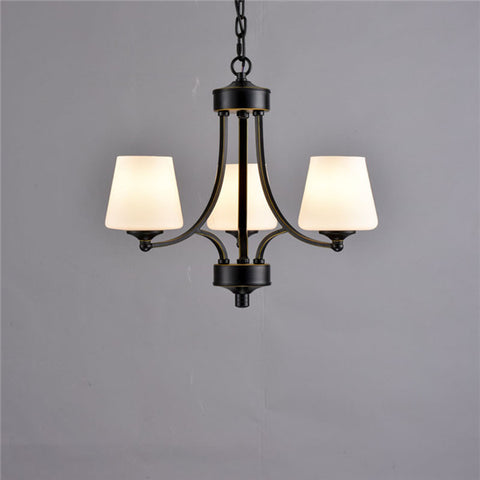Vintage Retro Black Iron Chandelier PL495