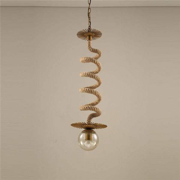 Single Head Retro Loft Hemp Rope Hanging Light PL669