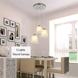1/3 Lights Glass Shade Pendant Light PL676 - Cheerhuzz