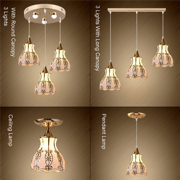 Retro Metal Glass Pendant Lamp PL681