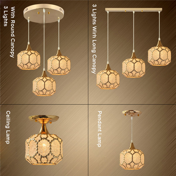 Modern Metal Glass Chandelier PL683