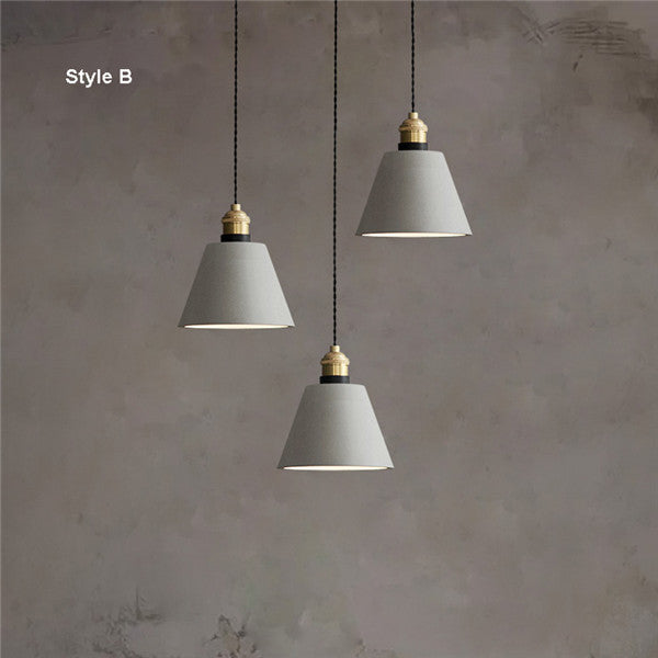 Vintage Metal Cement Pendant Light PL684 - Cheerhuzz