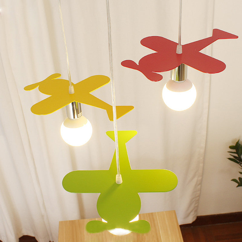 Cartoon Colorful Metal Plane Pendant Lamp PL686
