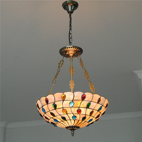 Tiffany Peacock Inverted Pendant Lights PL705 - Cheerhuzz