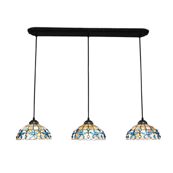 3 Lights Modern Stained Shell Pendant Lamps PL711