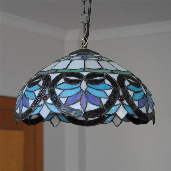Baroque Tiffany Stained Glass Pendant Lamp PL712