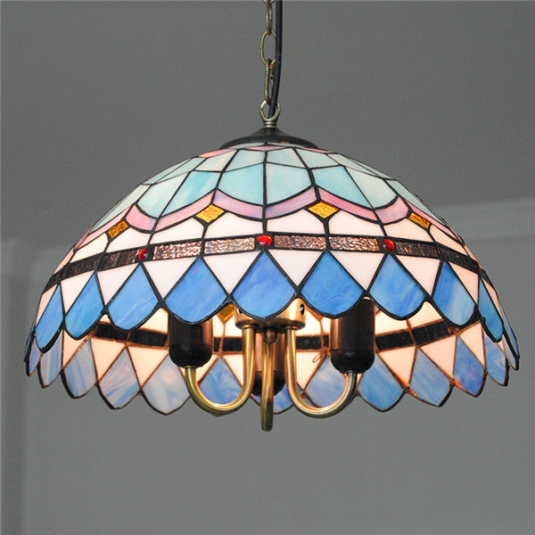 "16"" European Blue&White Pendant Light PL713"