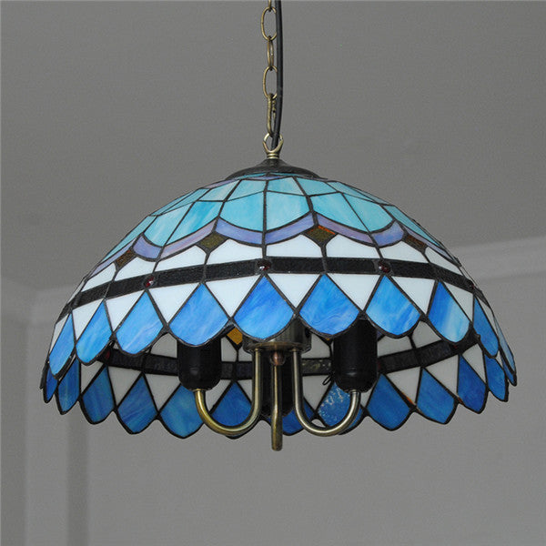 "16"" European Blue&White Pendant Light PL713 - Cheerhuzz"