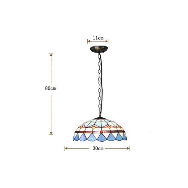 Retro Tiffany Stained Glass Pendant Lamp PL714