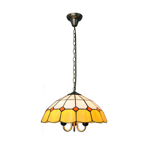 Tiffany Style Yellow&White Hanging Light PL715