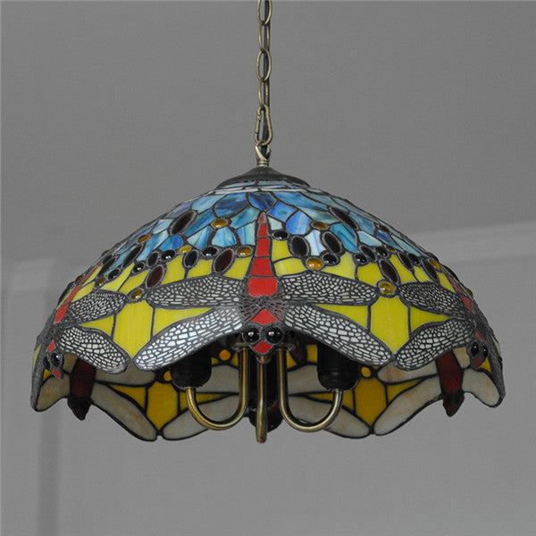Dragonfly Tiffany Style Hanging Lamps PL716 - Cheerhuzz