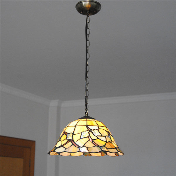 Mediterranean Maple Leaf Pattern Pendant Light PL723 - Cheerhuzz