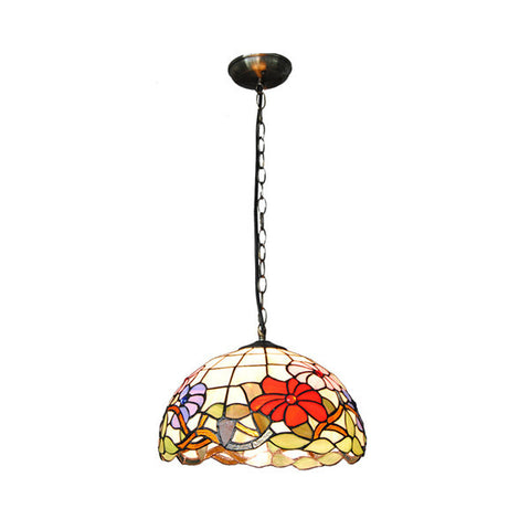 Classic Tiffany Flower Inverted Pendant Light PL777