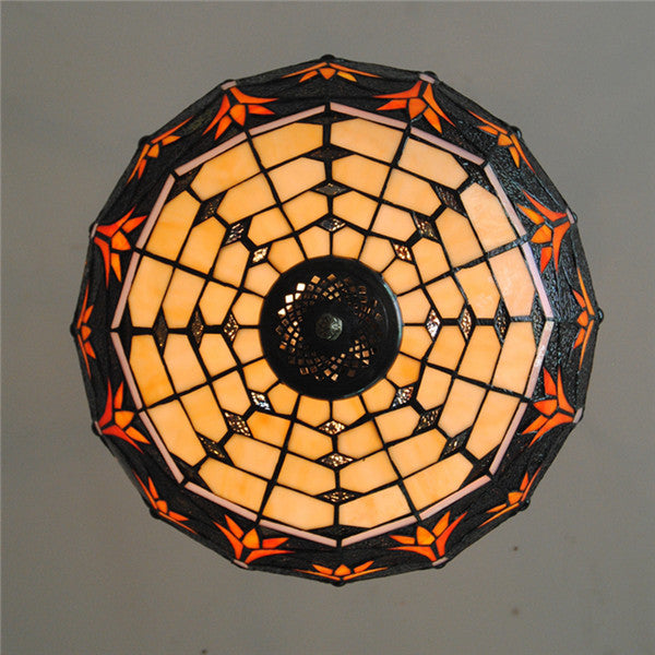 Tiffany Stained Glass Grass Inverted Pendant Lamp PL747 - Cheerhuzz