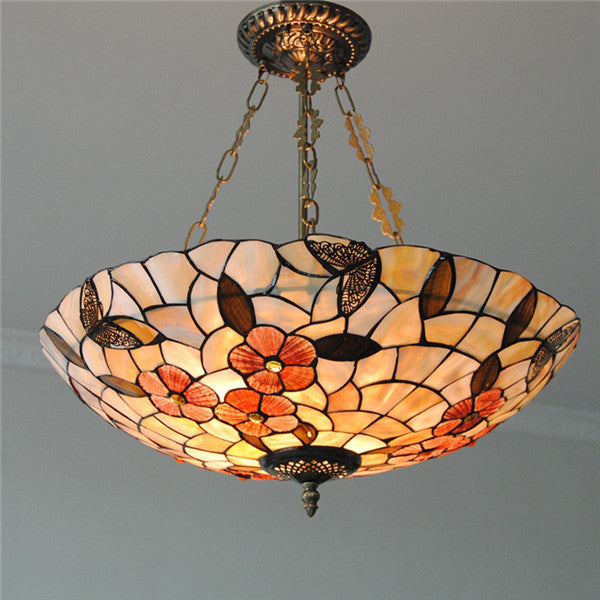 "21"" Retro Flowers Inverted Hanging Light PL749"
