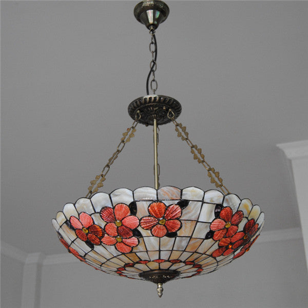 Vintage Stained Glass 5 Lights Pendant Light PL750 - Cheerhuzz