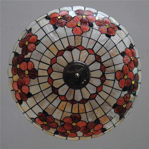 Vintage Stained Glass 5 Lights Pendant Light PL750