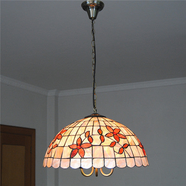 American Flowers Shell Shade Pendant Lamp PL752