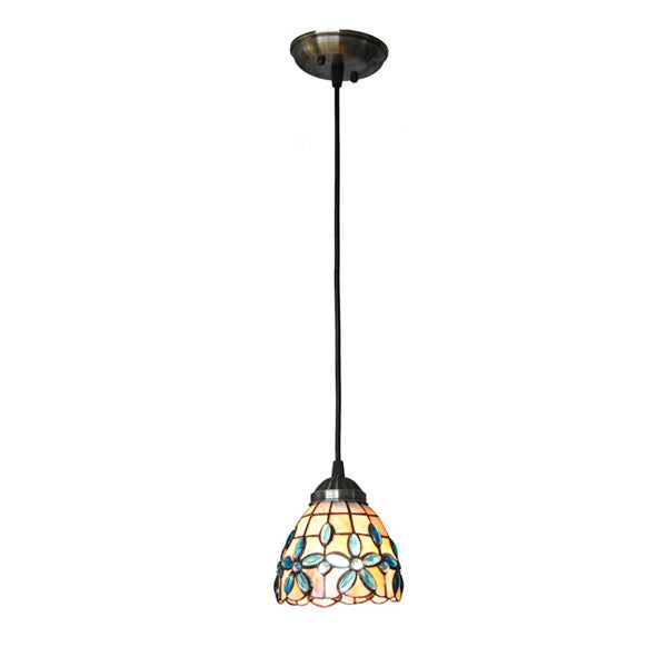 "5"" Mediterranean Stained Shell Pendant Lights PL754 - Cheerhuzz"