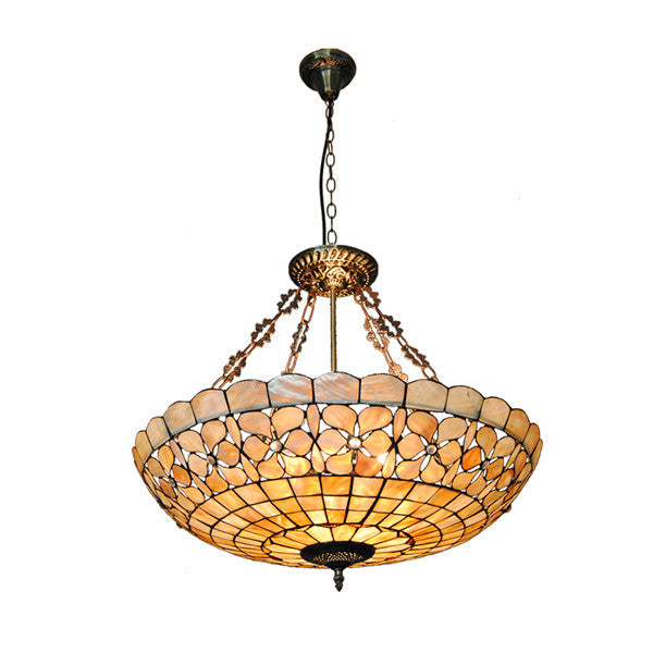 "24"" European Stained Glass Pendant Lamp PL759 - Cheerhuzz"