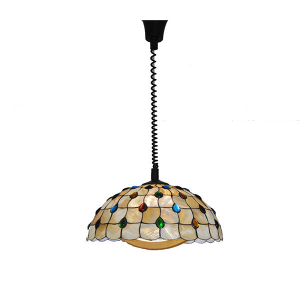 Modern Stained Shell Hanging Pendant Light PL763