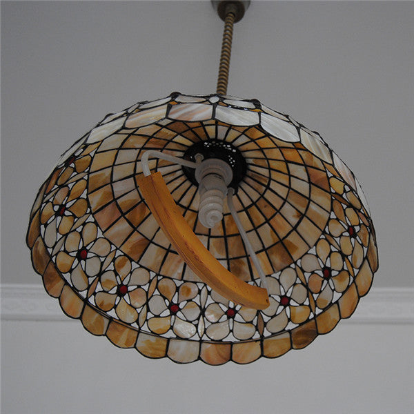 Retro Tiffany Flower Chandelier Fixture PL764