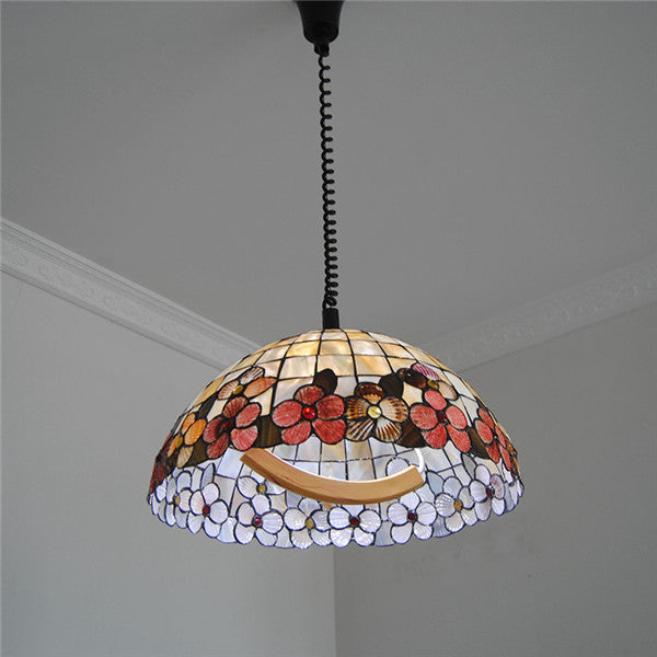 18 Inch Tiffany Flower Lamp Stained Glass Pendant Light PL765