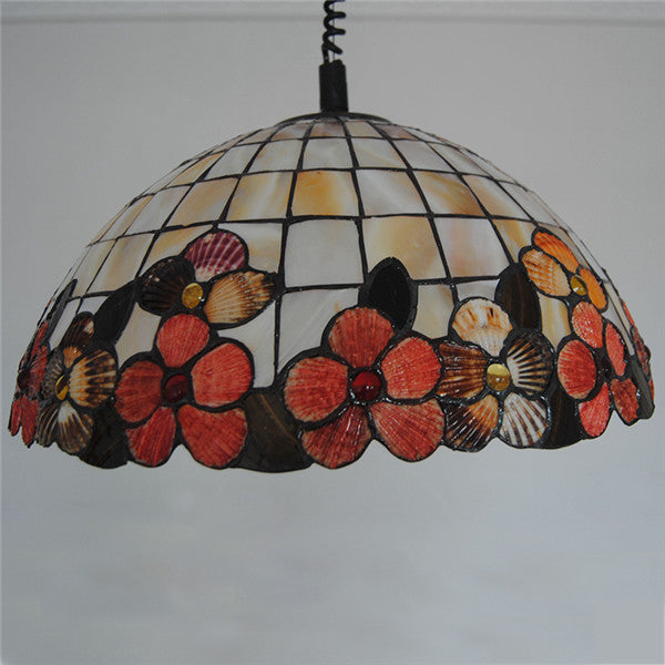 18 Inch Tiffany Flower Lamp Stained Glass Pendant Light PL765 - Cheerhuzz