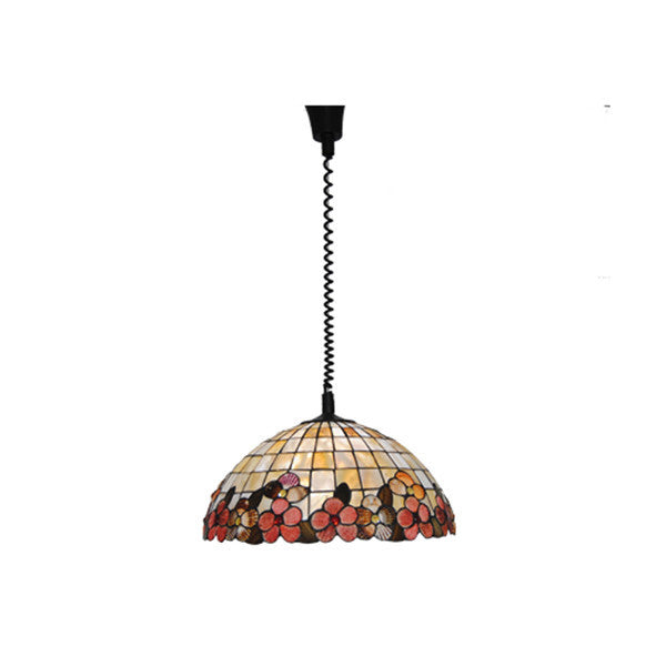 18 Inch Flowers Stained Glass Pendant Lamp PL765