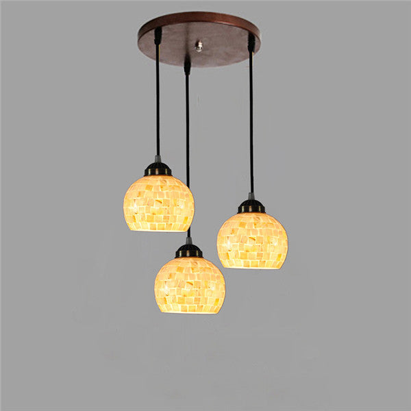 3 Heads European Mosaic Shade Chandelier PL766 - Cheerhuzz