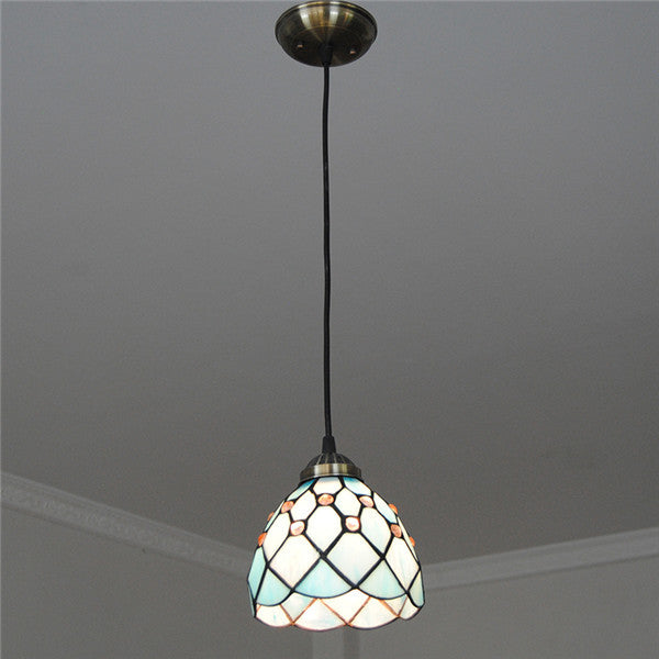 Vintage Stained Glass Shade Pendant Light PL767 - Cheerhuzz