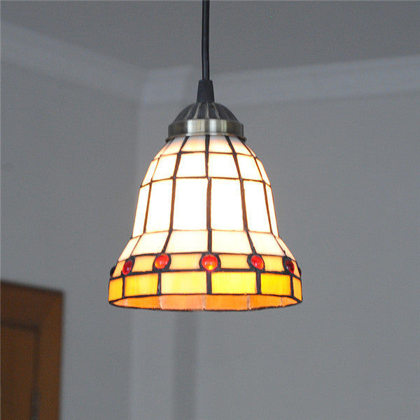 "6"" Modern Stained Glass Hanging Light PL769 - Cheerhuzz"