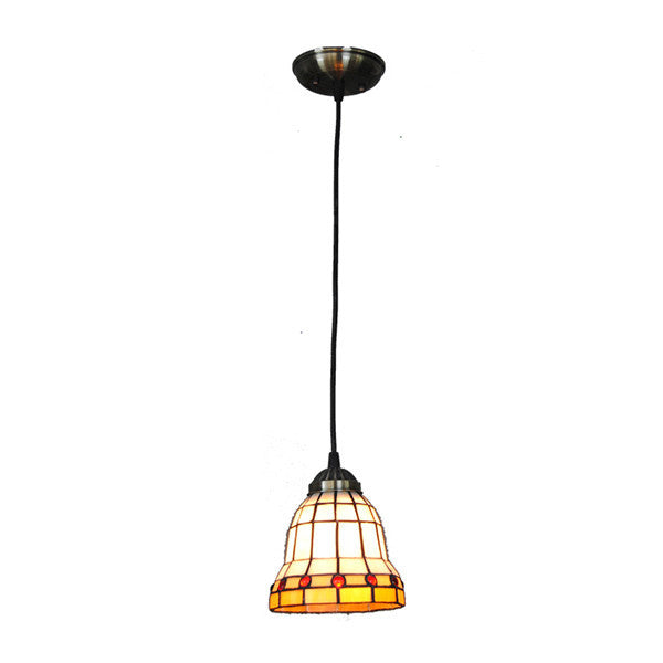 "6"" Modern Stained Glass Hanging Light PL769"