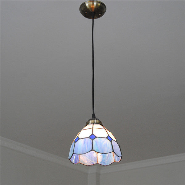 Mediterranean Blue&White Glass Pendant Lamp PL770 - Cheerhuzz