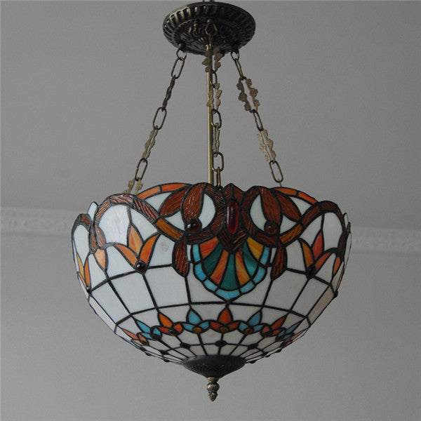 Baroque Tiffany Style Inverted Pendant Light PL776