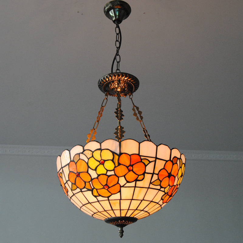 Classic Tiffany Flower Inverted Pendant Light PL777 - Cheerhuzz
