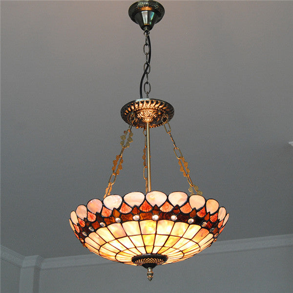 3 Lights Stained Cut Glass Inverted Hanging Light PL779