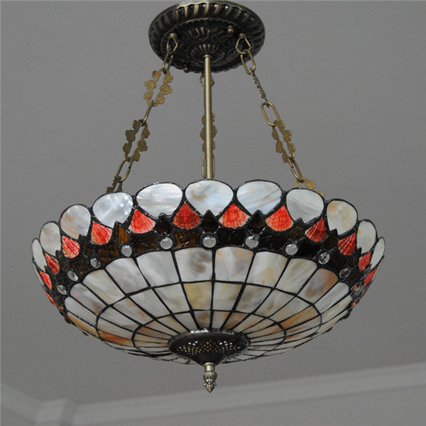 3 Lights Stained Cut Glass Inverted Hanging Light PL779 - Cheerhuzz